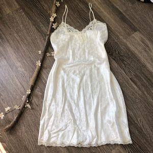 Vintage 80's lingerie charmeuse long dress